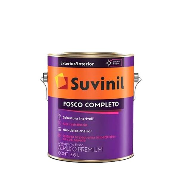 TINTA ACRÍLICA FOSCO COMPLETO SUVINIL 3,6L