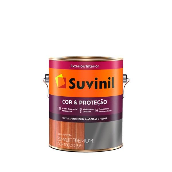 SUVINIL ESMALTE COR E PROTEÇÃO FOSCO BRANCO 3,6L