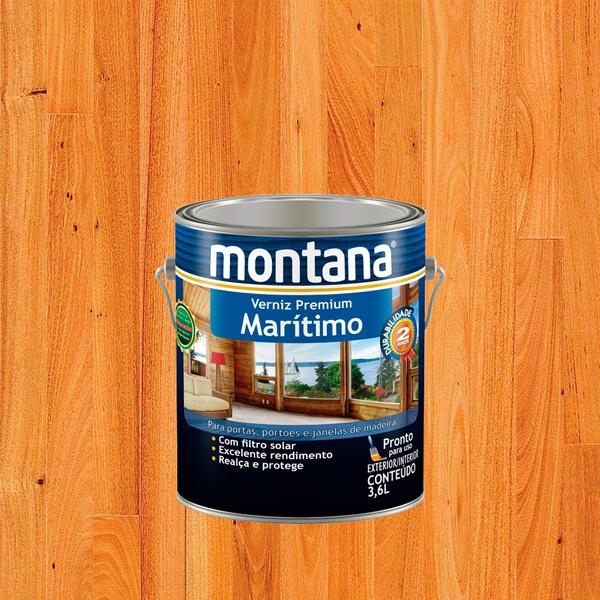 MONTANA VERNIZ MARITIMO NATURAL BRILHANTE 3,6L