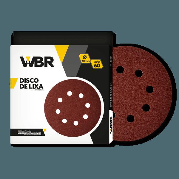 WAGNER DISCO DE LIXA 180MM GRÃO 60 - 8 FUROS