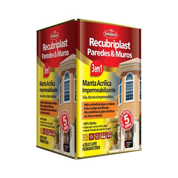 RECUBRIPLAST PAREDES E MUROS ACETINADO BRANCO 18L