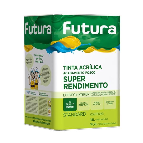 TINTA ACRILICA FOSCO BRANCO SUPER RENDIMENTO FUTURA 18LITROS