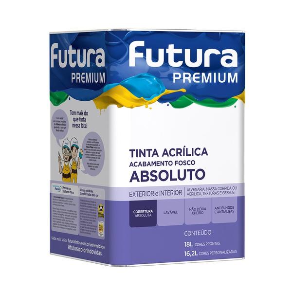 TINTA ACRILICA FOSCO BRANCO PREMIUM ABSOLUTO FUTURA 18LITROS