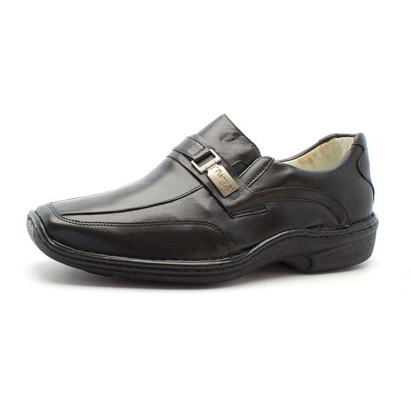 Sapato Social de Conforto Masculino Anatomico Preto