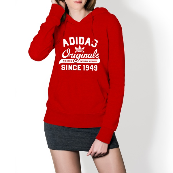 Moletom Feminino Adidas Originals - Vermelho