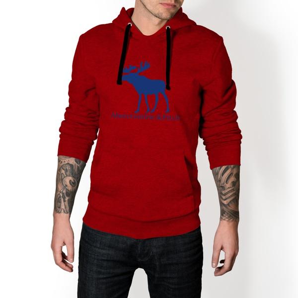Moletom Masculino Abercrombie Fitch - Vermelho e Azul