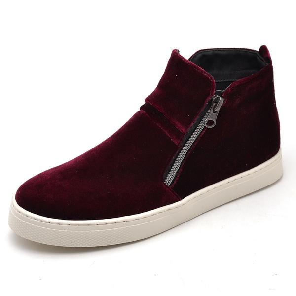 Bota Botinha Feminino Top Franca Shoes Hiate Veludo Bordô