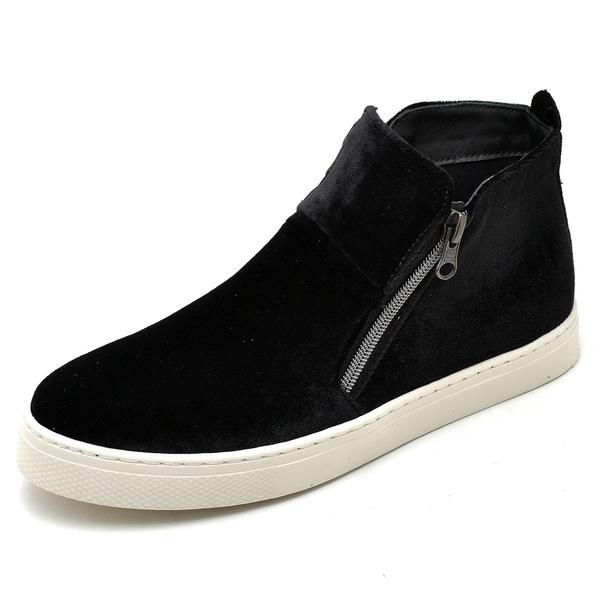 Bota Botinha Feminino Top Franca Shoes Hiate Veludo Preto