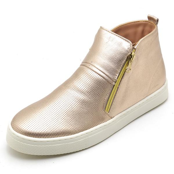 Bota Botinha Feminino Top Franca Shoes Hiate Word Rosê