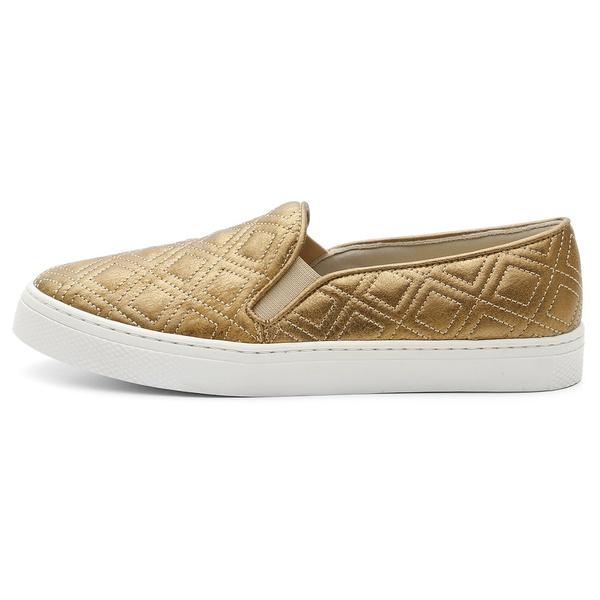 Tenis Sapatenis Feminino Top Franca Shoes Hiate Dourado
