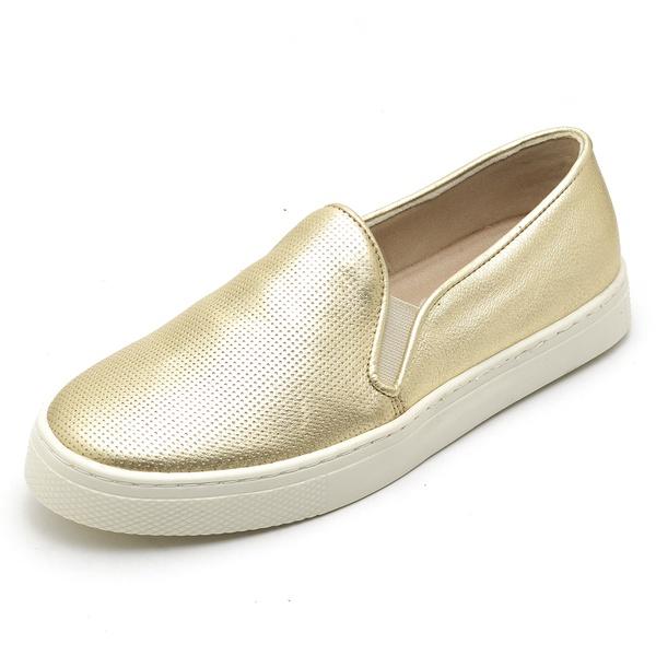 Tenis Sapatenis Feminino Top Franca Shoes Hiate World Ouro