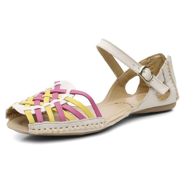 Sandalia Sapatilha Feminino Top Franca Shoes Moleca Areia Amarelo Pink