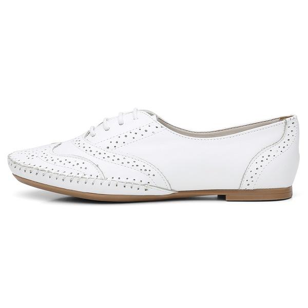 Sapato Social Feminino Top Franca Shoes Oxford Confort Branco