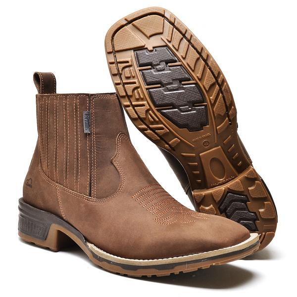 Botina Country Top Franca Shoes Fossil Café