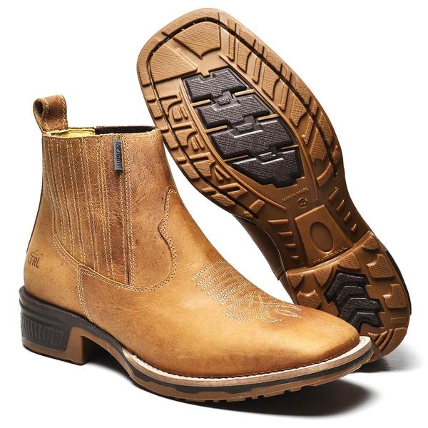 Botina Country Top Franca Shoes Fossil Mostarda