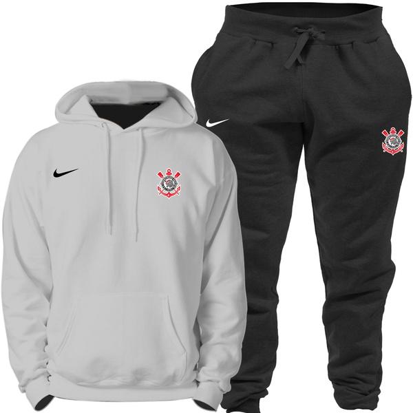 Kit Blusa Moletom Canguru Nike Corinthians + Calça