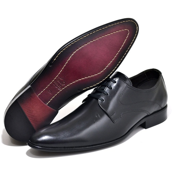 Sapato Social Executivo Classico Sola Couro Preto