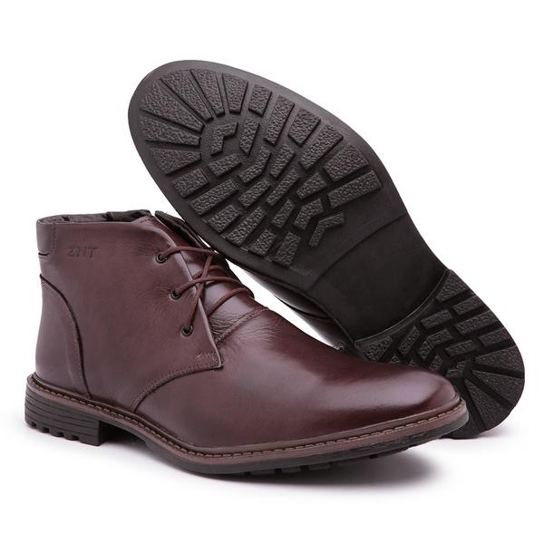 Sapato Bota Social Casual Masculino Top Franca Shoes Marrom