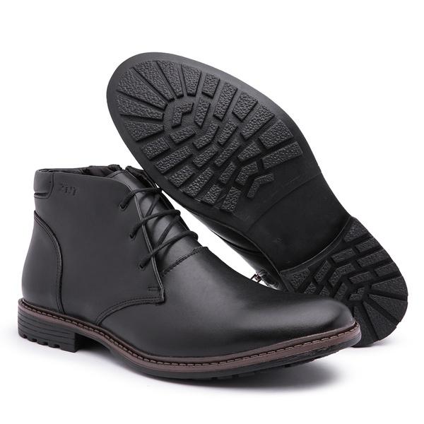 Sapato Bota Social Casual Masculino Top Franca Shoes Preto