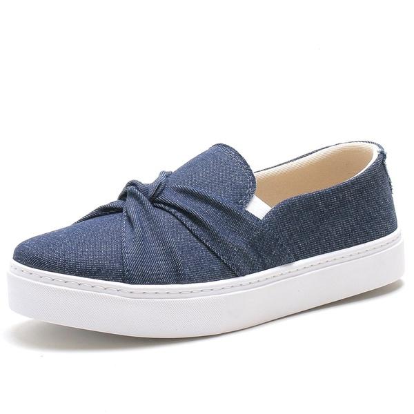 Tenis Sapatenis Feminino Top Franca Shoes Slip On Azul