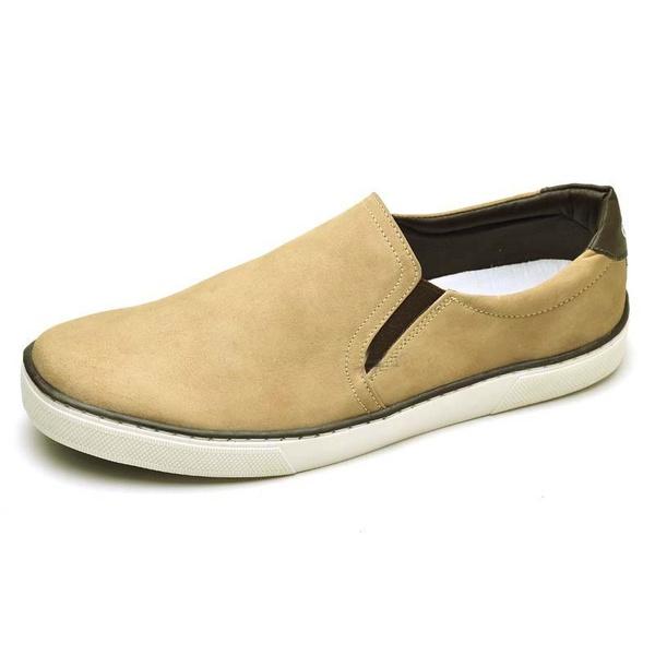 Sapatênis Masculino Slip On Top Franca Shoes Areia