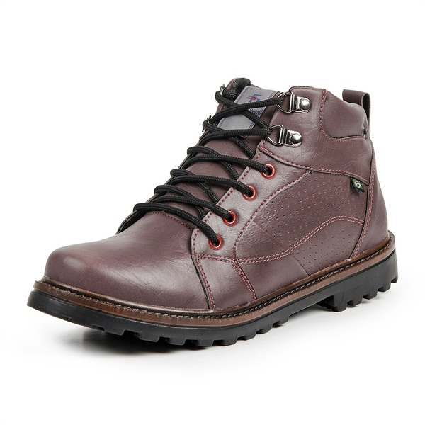 Bota Coturno Casual Masculino Top Franca Shoes Vinho