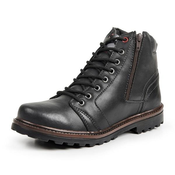 Bota Coturno Casual Masculino Top Franca Shoes Preto