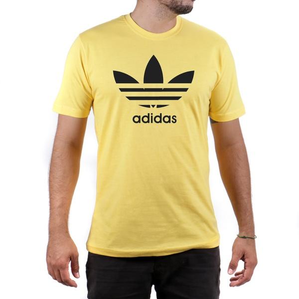 Camiseta Algodão Adidas Amarela