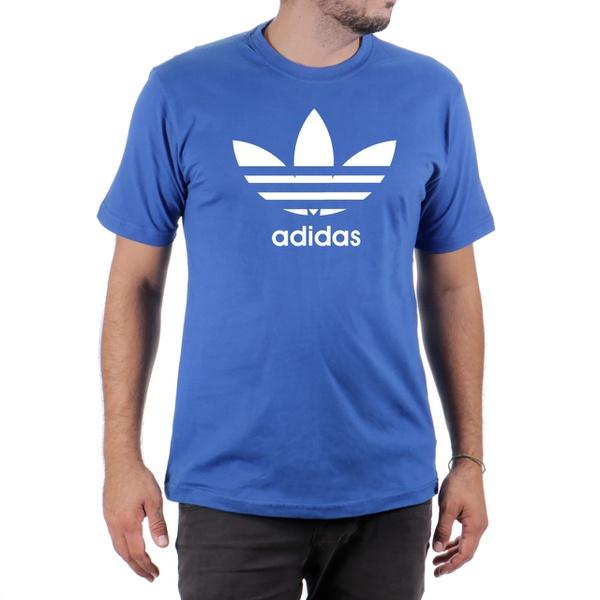 Camiseta Algodão Adidas Azul
