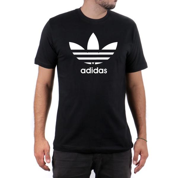 Camiseta Algodão Adidas Preta