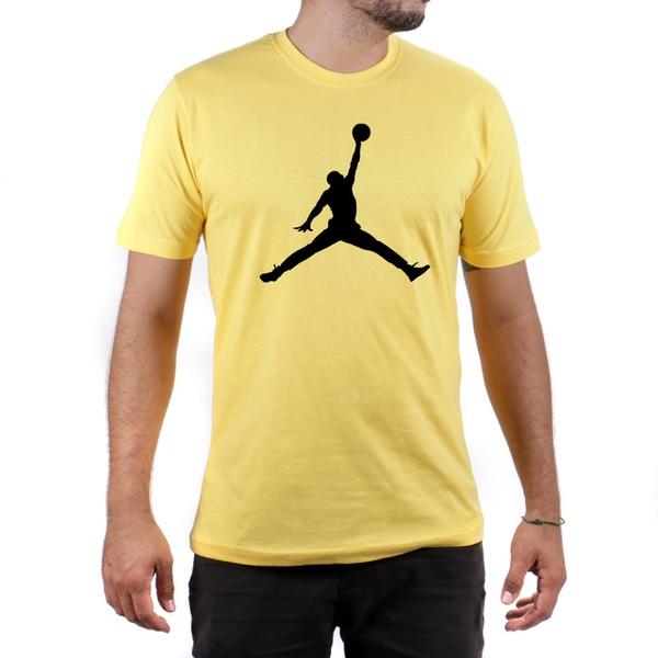 Camiseta Algodão Jordan Amarelo