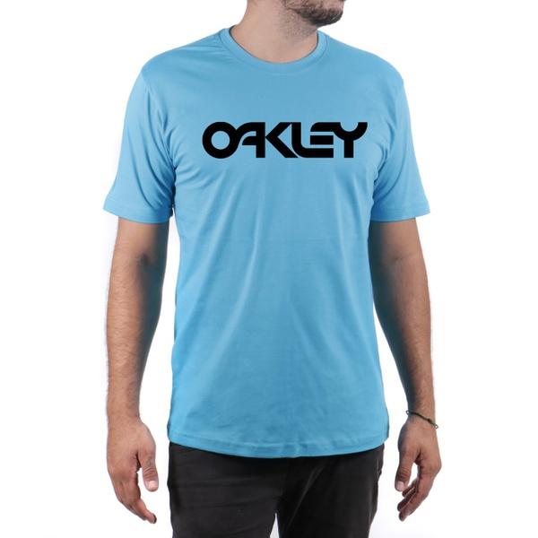 Camiseta Algodão Oakley Azul