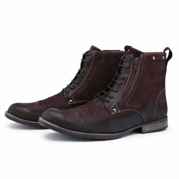 Bota Coturno Top Franca Shoes Café