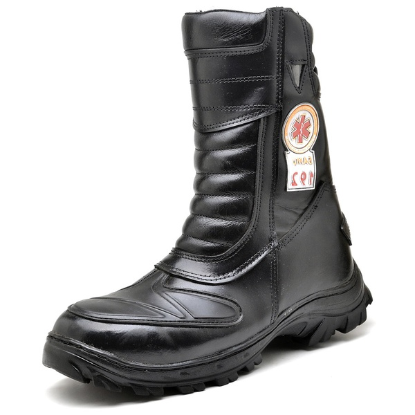 Bota Coturno Militar Top Franca Shoes Preto