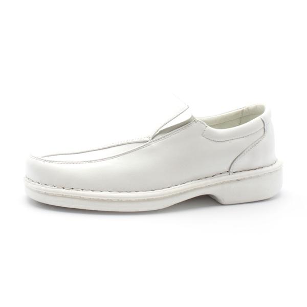 Sapato Social Masculino de Conforto Anatômico Ortopédico e Super Flexível Branco
