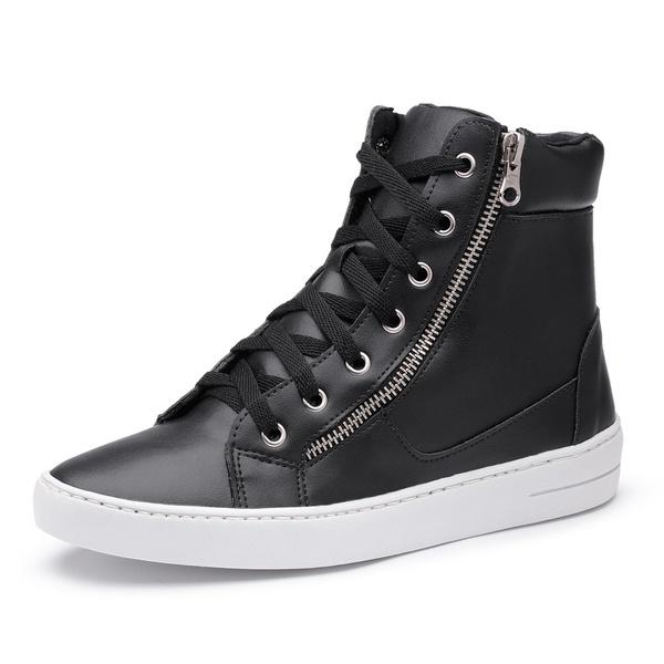 Sapatênis Feminino Cano Alto Top Franca Shoes Preto