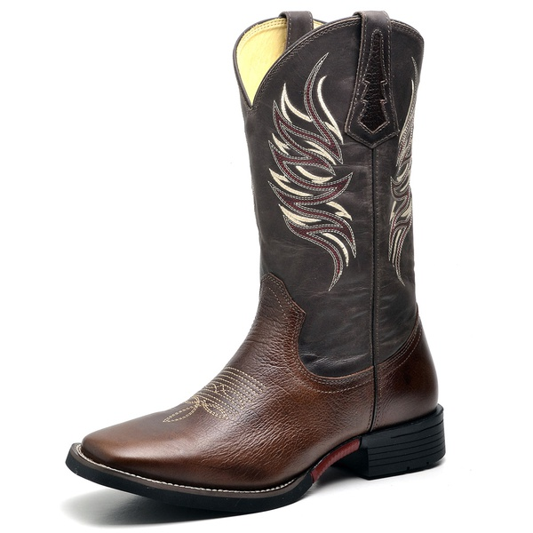 Bota Country Texana Top Franca Shoes Fossil Cafe