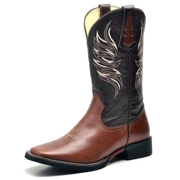 Bota Country Texana Top Franca Shoes Mustang Cafe / Havana