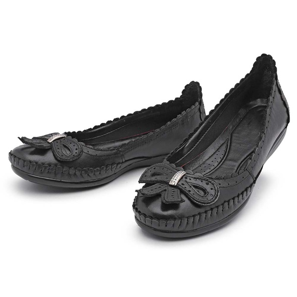 Sapatilha Feminina Top Franca Shoes Conforto Preto