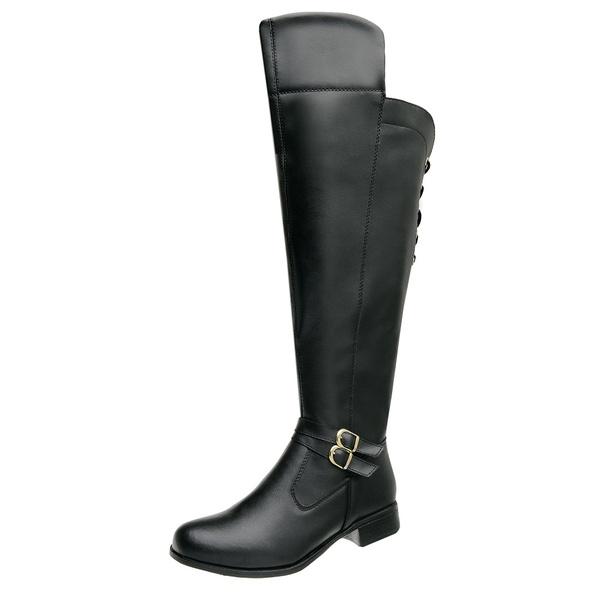 Bota Feminina Montaria Over Top Franca Shoes Preto