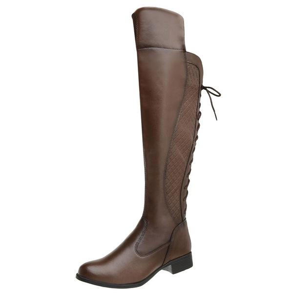 Bota Feminina Montaria Over Top Franca Shoes Capuccino