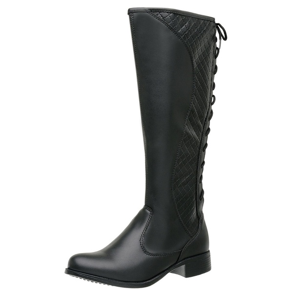 Bota Feminina Montaria Regulagem Top Franca Shoes Preto