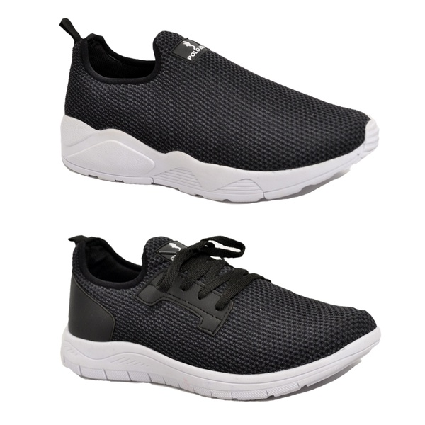 Kit 2 Pares Tênis Esporte Fitnes Top Franca Shoes Preto / Preto