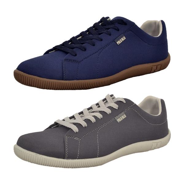 Kit 2 Pares Sapatênis Casual Top Franca Shoes Azul / Chumbo
