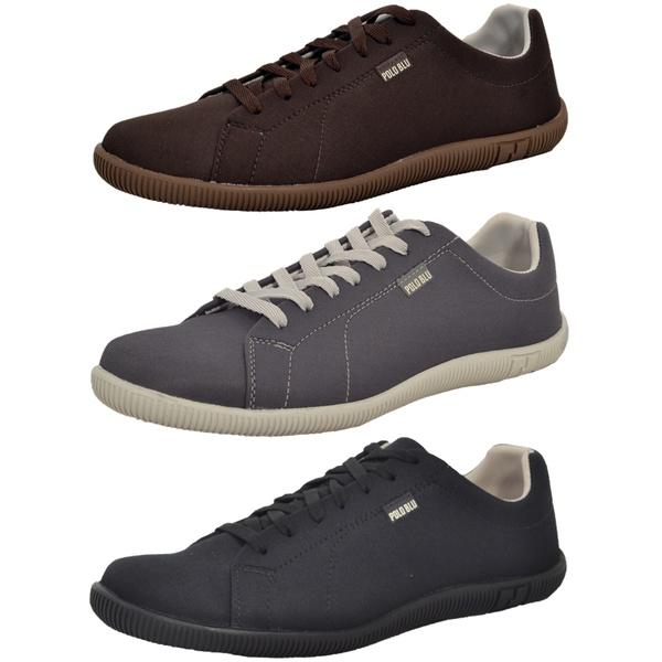 Kit 3 Pares Sapatênis Casual Top Franca Shoes Café / Chumbo / Preto