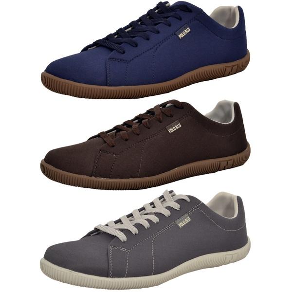 Kit 3 Pares Sapatênis Casual Top Franca Shoes Azul / Café / Chumbo