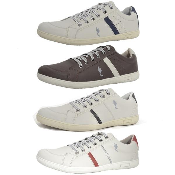 Kit 4 Pares Sapatênis Casual Top Franca Shoes Cinza / Preto