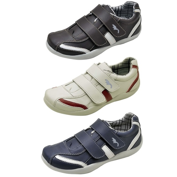 Kit 3 Pares Sapatênis Casual Infantil Top Franca Shoes Azul / Preto / Cinza