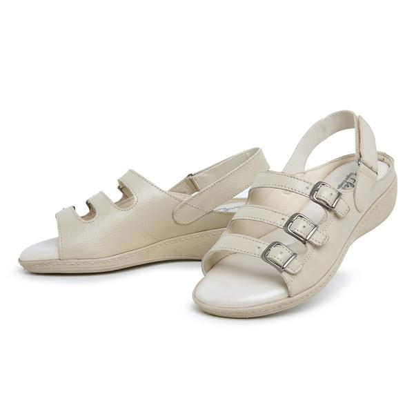 Sandália Top Franca Shoes Feminina Conforto Bege