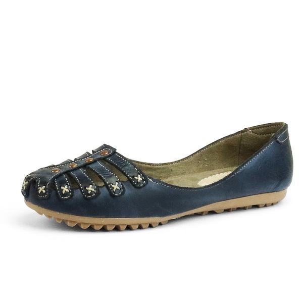 Sandália Sapatilha Feminina Top Franca Shoes Marinho